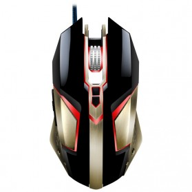 Leopard Mouse Gaming LED RGB 3200 DPI - T03 - Black