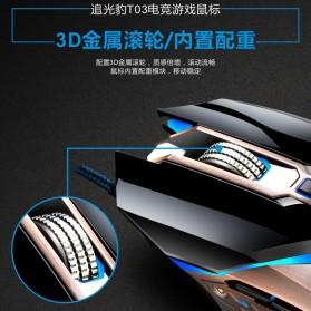 Leopard Mouse Gaming LED RGB 3200 DPI - T03 - Black - 6