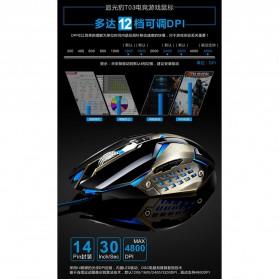 Leopard Mouse Gaming LED RGB 3200 DPI - T03 - Black - 7