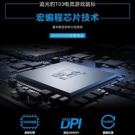 Leopard Mouse Gaming LED RGB 3200 DPI - T03 - Black - 9