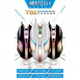 Leopard Mouse Gaming LED RGB 3200 DPI - T03 - Black - 10