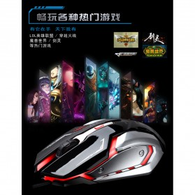 Leopard Mouse Gaming LED RGB 1600 DPI - K1 - Black - 5