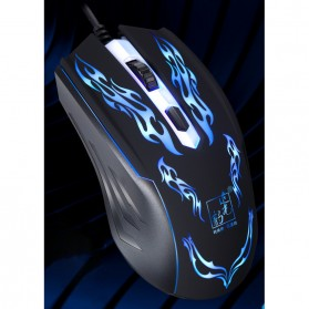 Leopard Mouse Gaming LED RGB 1200 DPI - 139 - Black
