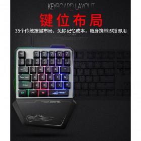 Single Hand Gaming Keyboard RGB - G40 - Black - 2