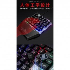 Single Hand Gaming Keyboard RGB - G40 - Black - 3