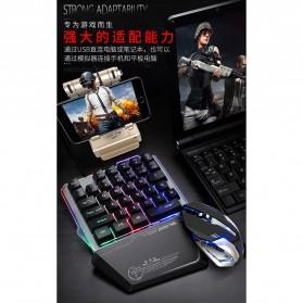 Single Hand Gaming Keyboard RGB - G40 - Black - 4