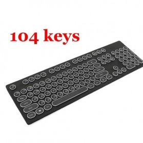 Keycap Steampunk for Cherry MX Switch Mechanical Keyboard - 104 Key - Black