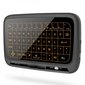 Wireless Touchpad Qwerty Keyboard Rechargeable 2.4GHz - H18 Plus - Black