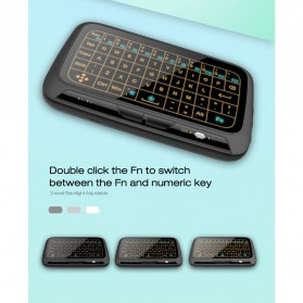 Wireless Touchpad Qwerty Keyboard Rechargeable 2.4GHz - H18 Plus - Black - 2