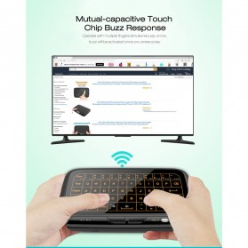 Wireless Touchpad Qwerty Keyboard Rechargeable 2.4GHz - H18 Plus - Black - 3