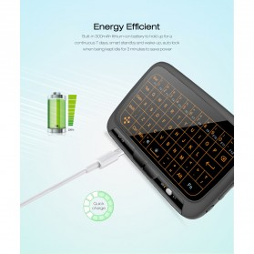 Wireless Touchpad Qwerty Keyboard Rechargeable 2.4GHz - H18 Plus - Black - 5