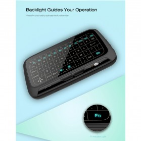 Wireless Touchpad Qwerty Keyboard Rechargeable 2.4GHz - H18 Plus - Black - 6