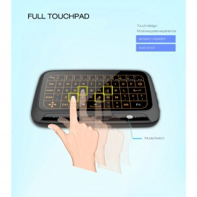 Wireless Touchpad Qwerty Keyboard Rechargeable 2.4GHz - H18 Plus - Black - 7