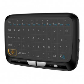 Zeepin Wireless Touchpad Qwerty Keyboard Rechargeable 2.4GHz - H18 - Black - 1
