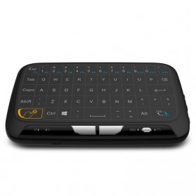 Zeepin Wireless Touchpad Qwerty Keyboard Rechargeable 2.4GHz - H18 - Black - 2