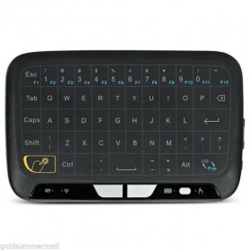 Zeepin Wireless Touchpad Qwerty Keyboard Rechargeable 2.4GHz - H18 - Black - 3