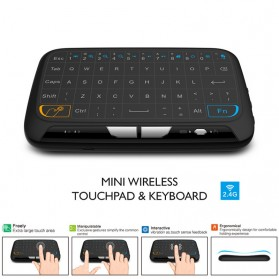 Zeepin Wireless Touchpad Qwerty Keyboard Rechargeable 2.4GHz - H18 - Black - 7