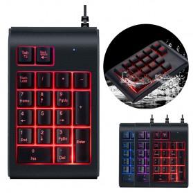 LANDFOX Numeric Keypad Numpad LED Backlight USB - K23 - Black - 10