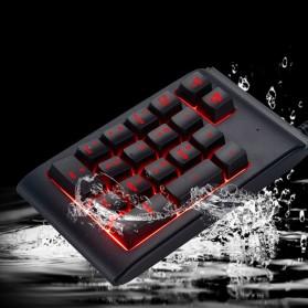 LANDFOX Numeric Keypad Numpad LED Backlight USB - K23 - Black - 6