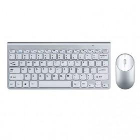 Powstro Wireless Mini Keyboard + Mouse Combo - XII-MK802 - Silver - 4