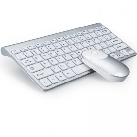 Powstro Wireless Mini Keyboard + Mouse Combo - XII-MK802 - Silver - 5