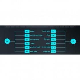 Kimsnot Wireless Keyboard Mouse Combo 2.4G - JP106 - Black - 7
