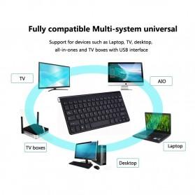 Kimsnot Wireless Keyboard Mouse Combo 2.4G - JP106 - Black - 9