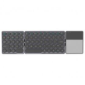 AVATTO Keyboard Lipat Wireless Bluetooth Three Folding with Touchpad - A21 - Gray