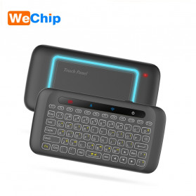 WeChip Mini Wireless Keyboard Air Mouse with Touch Pad - H20 - Black