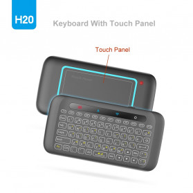 WeChip Mini Wireless Keyboard Air Mouse with Touch Pad - H20 - Black - 2