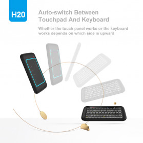 WeChip Mini Wireless Keyboard Air Mouse with Touch Pad - H20 - Black - 3
