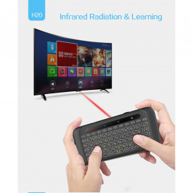 WeChip Mini Wireless Keyboard Air Mouse with Touch Pad - H20 - Black - 8