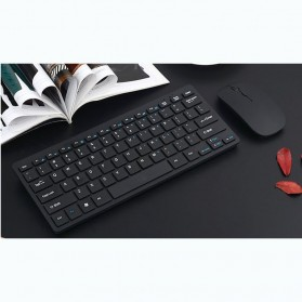 Keyboard Gaming - Dotda Wireless Keyboard Mouse Combo 2.4G - JP115 - Black