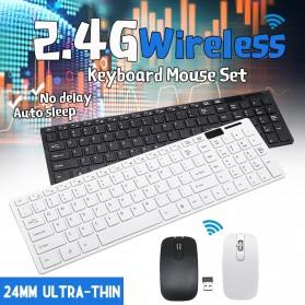 Dotda Wireless Keyboard Mouse Combo 2.4G - JP115 - Black - 2