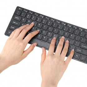 Dotda Wireless Keyboard Mouse Combo 2.4G - JP115 - Black - 3