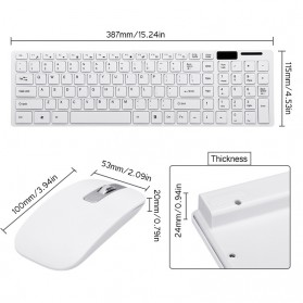 Dotda Wireless Keyboard Mouse Combo 2.4G - JP115 - Black - 4