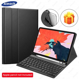 AIEACH Bluetooth Keyboard Leather Case Cover for iPad Pro 11 Inch 2020 - 1105 - Black