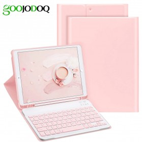 GOOJODOQ Keyboard Bluetooth with Leather Case for iPad Pro 11 Inch 2020 - Black - 2
