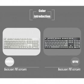 PBT Keycaps Mechanical Keyboard PBT 104 Keys English for Cherry MX Switch - Cyan - 3
