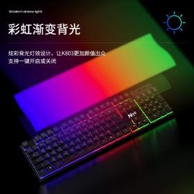 NIYE Gaming Keyboard RGB LED with Mouse - K803 - Black - 8