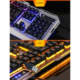 SIAOEL Combo Gaming Keyboard RGB Mechanical Feel with Mouse - V1 - Black - 3