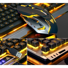 SIAOEL Combo Gaming Keyboard RGB Mechanical Feel with Mouse - V1 - Black - 6
