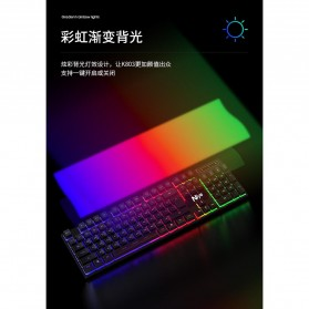 NIYE Gaming Keyboard RGB LED - K803 - Black - 4