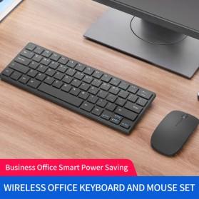 Kimsnot Wireless Keyboard Mouse Combo Set Ergonomic 64 Keys 2.4GHz - JP107 - Black