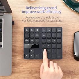 BEESCLOVER Keypad Numeric Multimedia  Wireless 2.4GHz 35 Buttons - R57 - Black - 5
