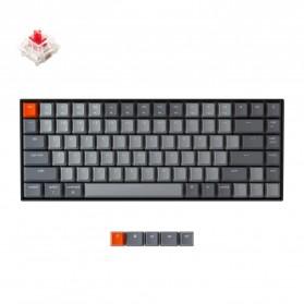 Keychron Wireless Mechanical Keyboard 84 Keys White Backlit Gateron Red Switch - K2-A-V2 - Gray/Red