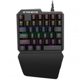 INKER Single Hand Mechanical Gaming Keyboard RGB - K9 - Black - 1