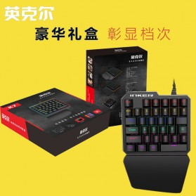 INKER Single Hand Mechanical Gaming Keyboard RGB - K9 - Black - 4