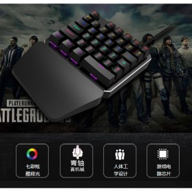 INKER Single Hand Mechanical Gaming Keyboard RGB - K9 - Black - 5
