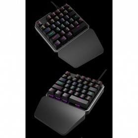 INKER Single Hand Mechanical Gaming Keyboard RGB - K9 - Black - 9